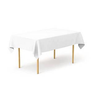Скатертина 1,40*2,10 Біла з тканини Р-195 на стіл 0,80*1,50 Прямокутна, фото 2