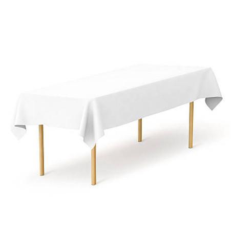 Скатертина 1,40*2,90 Біла з тканини Р-195 на стіл 0,90*2,40 Прямокутна
