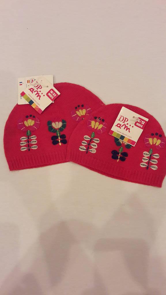Комплект шапочек для девочки DPam мальва