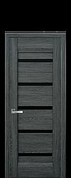 Дверне полотно Lira з чорним склом