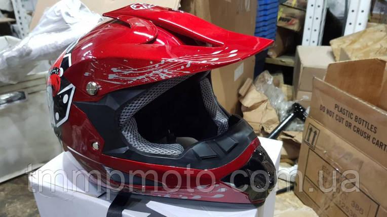 Шлем детский кроссовый размер 56-58, фото 2