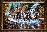 Коні з бурштину