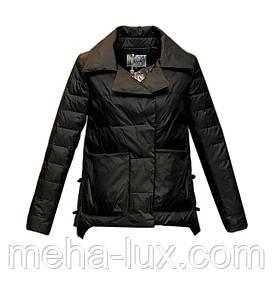 Куртка Zilanliya демисезонная трапеция короткая черная