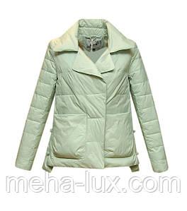 Куртка Zilanliya демисезонная трапеция короткая мятная