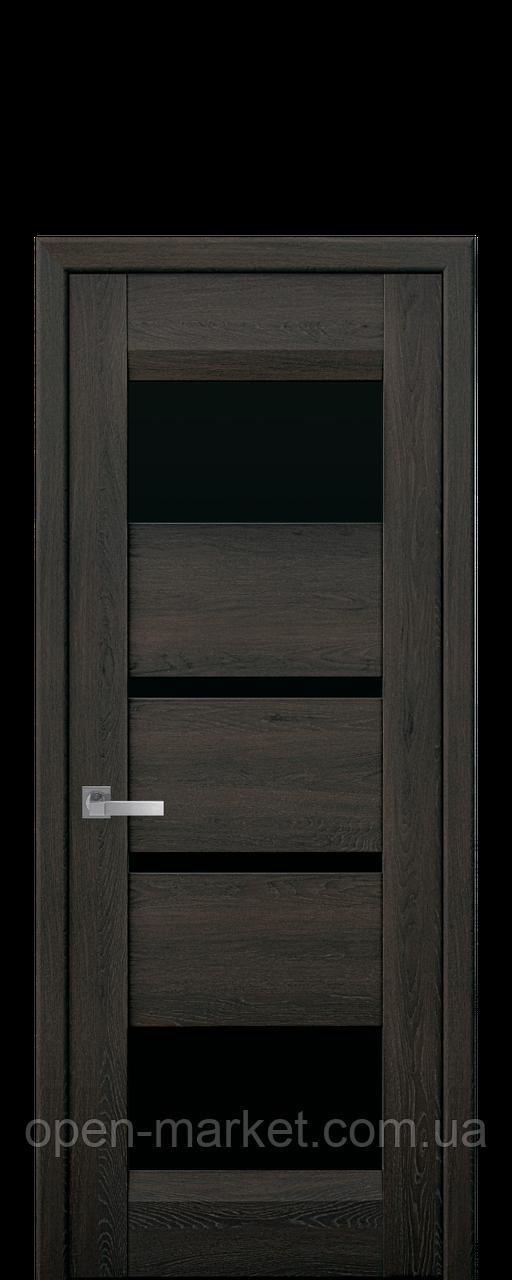 Дверное полотно Ibiza с черным стеклом