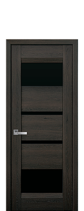 Дверное полотно Ibiza с черным стеклом, фото 2