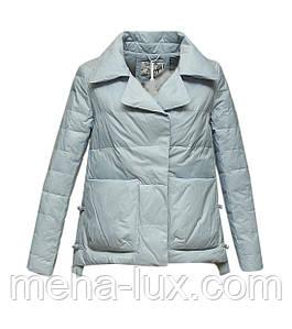 Куртка Zilanliya демисезонная трапеция короткая голубая