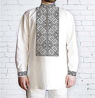 Заготовка чоловічої сорочки та вишиванки для вишивки чи вишивання бісером  Бисерок «Орнамент 526 С » 9d71423944456
