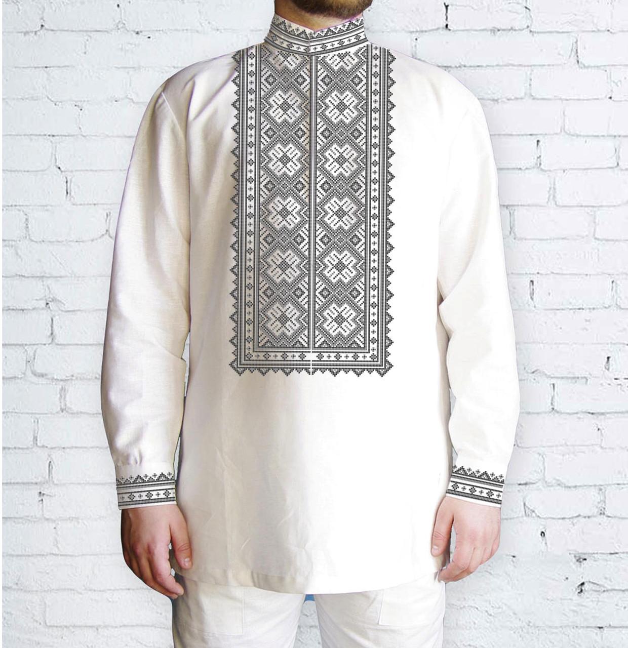 Заготовка чоловічої сорочки та вишиванки для вишивки чи вишивання бісером Бисерок «Орнамент 525 С» (Ч-525 С )