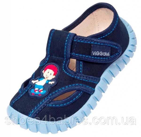 Детские тапочки для мальчика синие р. 25, 28