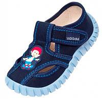 Детские тапочки для мальчика синие р. 25, 28, фото 1