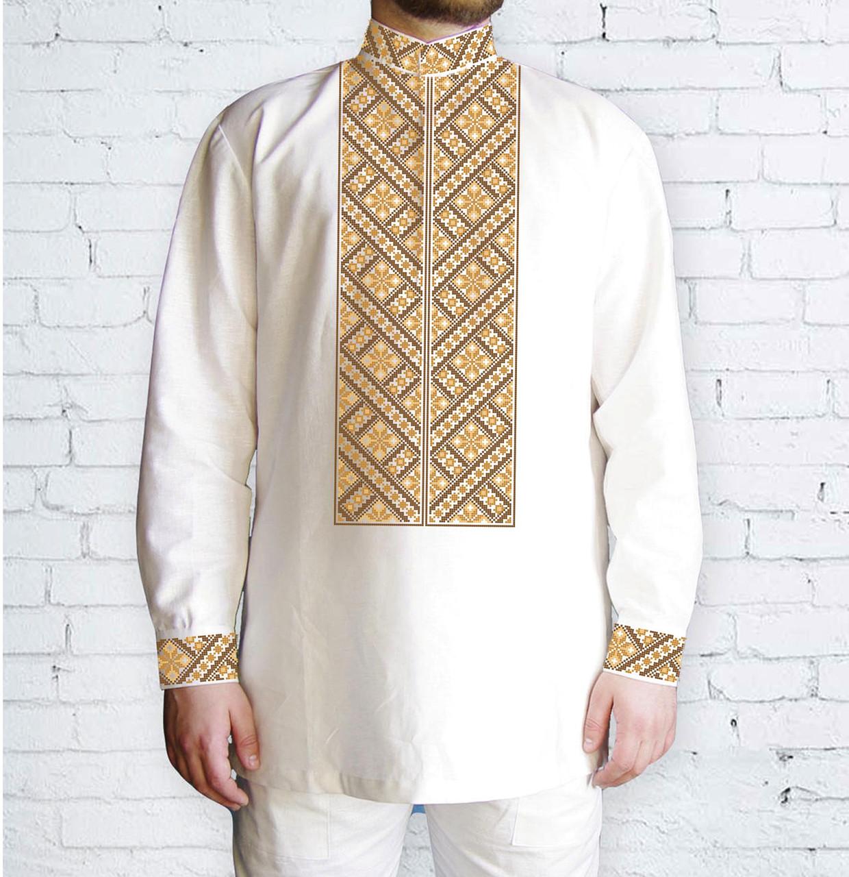 Заготовка чоловічої сорочки та вишиванки для вишивки чи вишивання бісером Бисерок «Орнамент 523 К» (Ч-523 К )