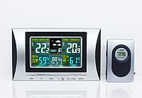 Метеостанция  арт. 102 с цветным ЖК-дисплеем и Беспроводным датчиком