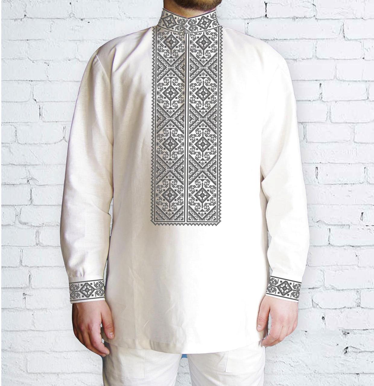 Заготовка чоловічої сорочки та вишиванки для вишивки чи вишивання бісером Бисерок «Орнамент 522 С» (Ч-522 С )