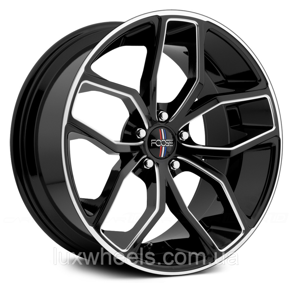 FOOSE OUTCAST Gloss Black with Milled Accents