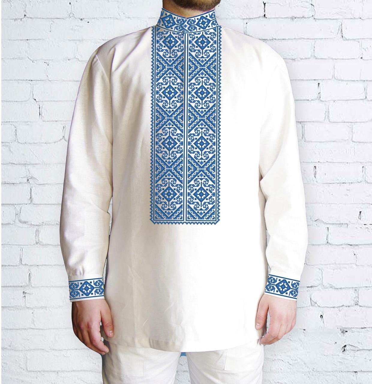 Заготовка чоловічої сорочки та вишиванки для вишивки чи вишивання бісером Бисерок «Орнамент 522 Г» (Ч-522 Г)