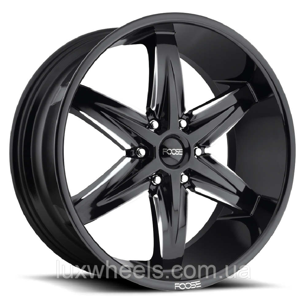 FOOSE SLIDER Gloss Black with Milled Accents