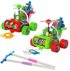 Каталочка вертолет на палочке. Детская каталочка. Детская развивающая игрушка.