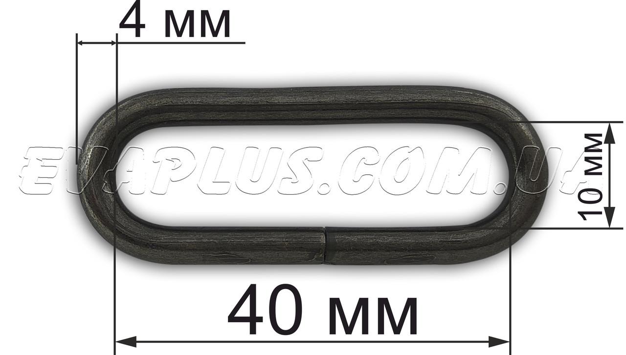 Рамка 40х10х4 мм.Х404 темный никель