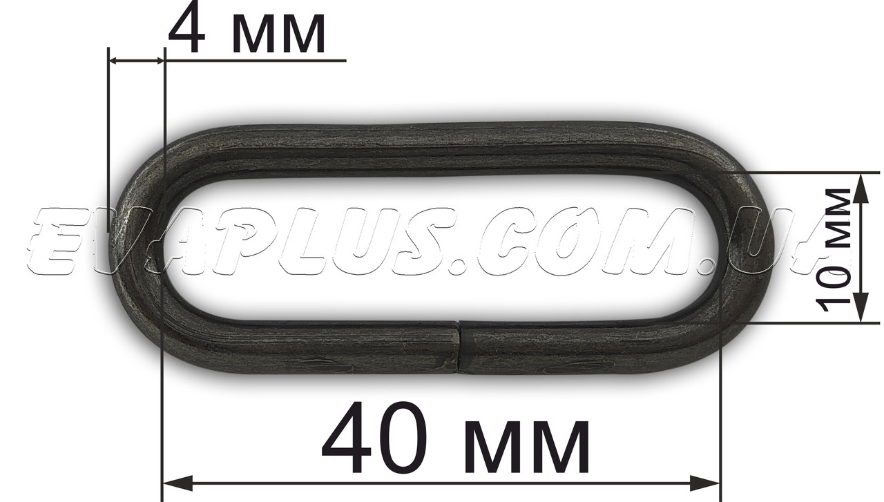Рамка Х404 темный никель (40х10х4 мм)