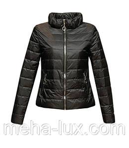 Куртка Zilanliya демисезонная короткая с блестками черная