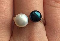Кольцо серебряное 2100 с натуральным жемчугом