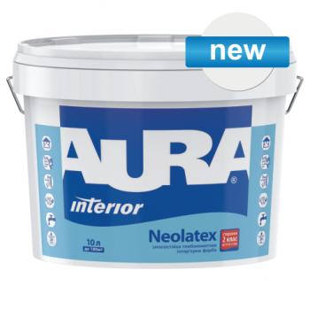 Износостойкая глубокоматовая интерьерная краска AURA Neolatex, 2,5л, фото 2