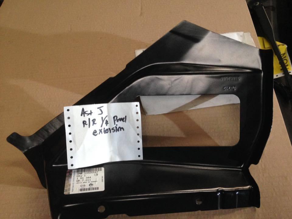 Удлиннитель заднего правого крыла (задней четверти) задний нижний GM 0181344 13326547 93862566 OPEL Astra-J