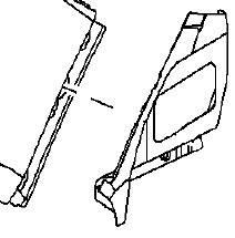 Удлиннитель заднего левого крыла (задней четверти) задний нижний GM 0181345 13326546 93862565 OPEL Astra-J