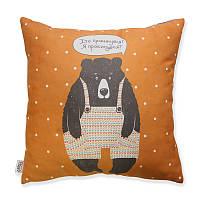 Подушка Сонный Мишка оранжевая