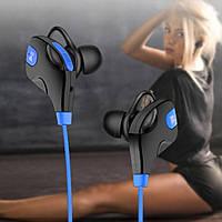 Наушники XY-BT-8297 Bluetooth влагоустойчивые с микрофоном для спорта синие, фото 1