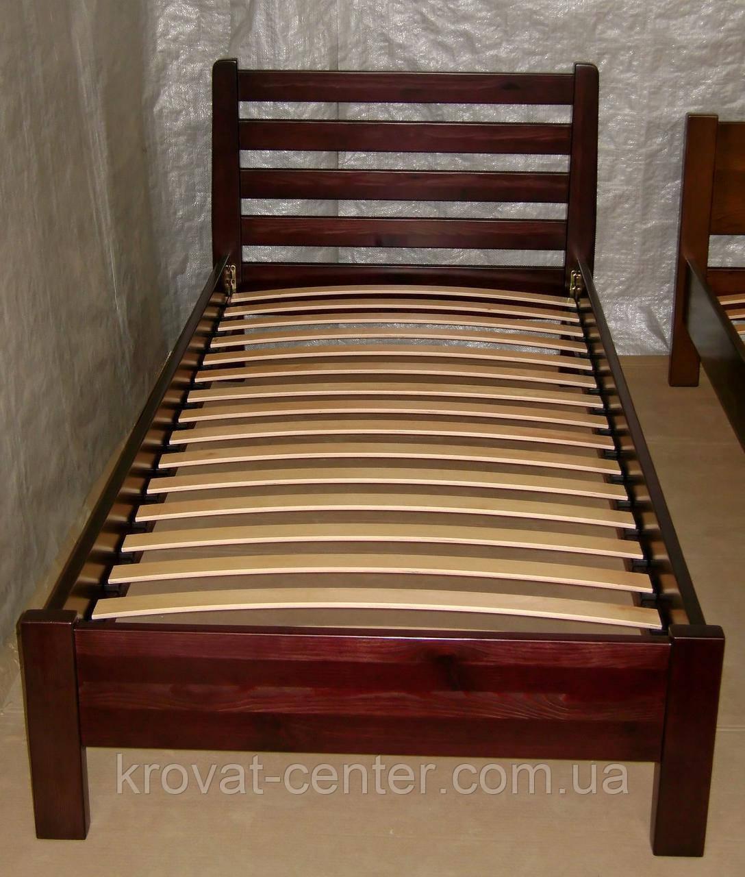 """Односпальне ліжко """"Масу"""" з масиву дерева вільха"""