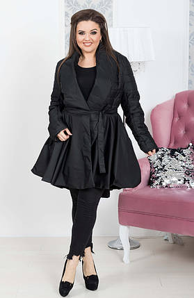 """Стеганое женское пальто на запах """"ALLEN"""" с карманами (большие размеры), фото 2"""