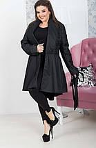 """Стеганое женское пальто на запах """"ALLEN"""" с карманами (большие размеры), фото 3"""