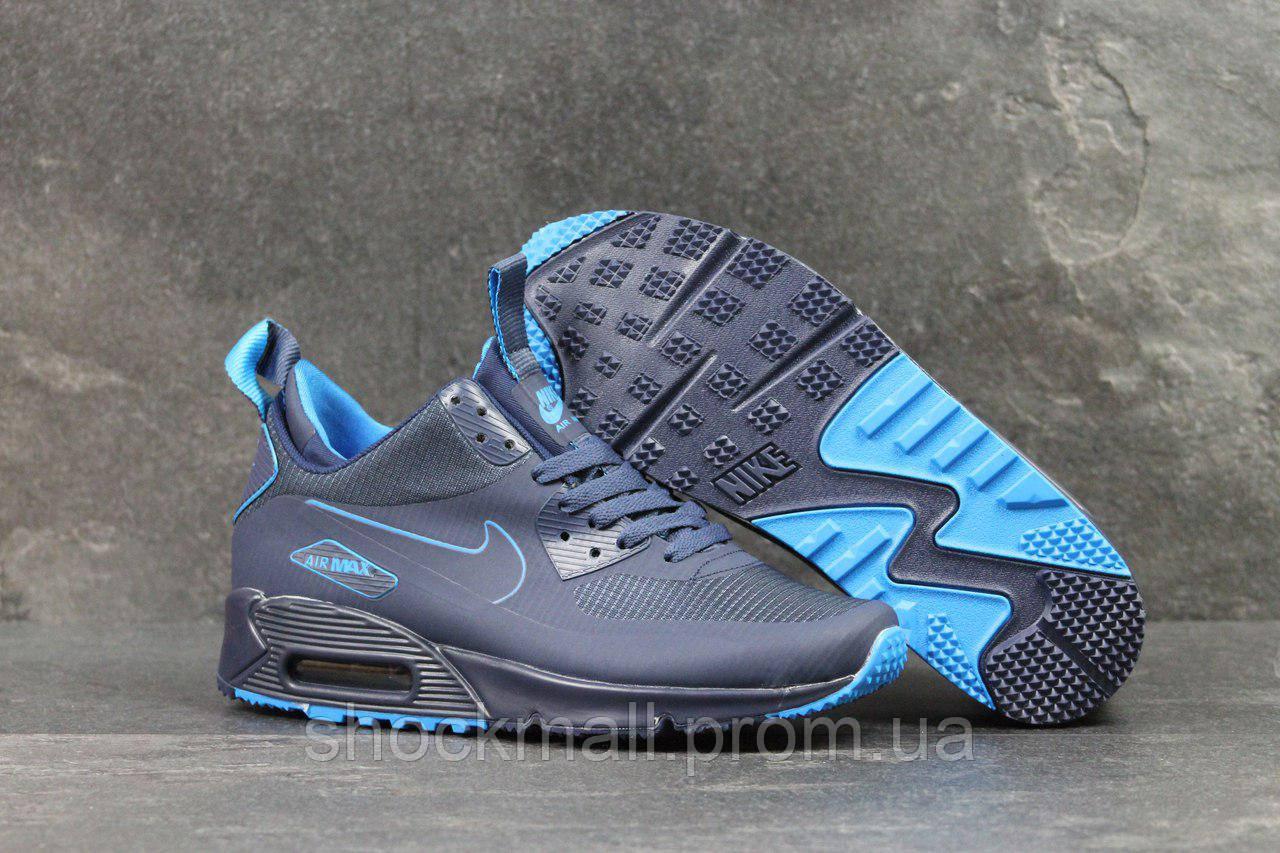 a8d131b9 Nike Air Max 90 Ultra Mid кроссовки мужские синие термоносок Вьетнам  реплика - Интернет магазин ShockMall