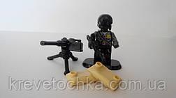 Лего военный armed raid спецназ с противогазом, фото 3