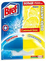 """Средство чистящее Bref Duo-Activ для унитаза """"Лимон"""" запасной блок"""