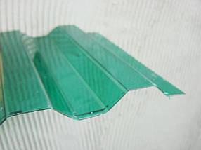 Профилированный монолитный поликарбонат Borrex  Трапеция зеленый 105х400см