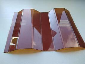 Профилированный монолитный поликарбонат Borrex Трапеция 0,8 мм янтарь 105х200см