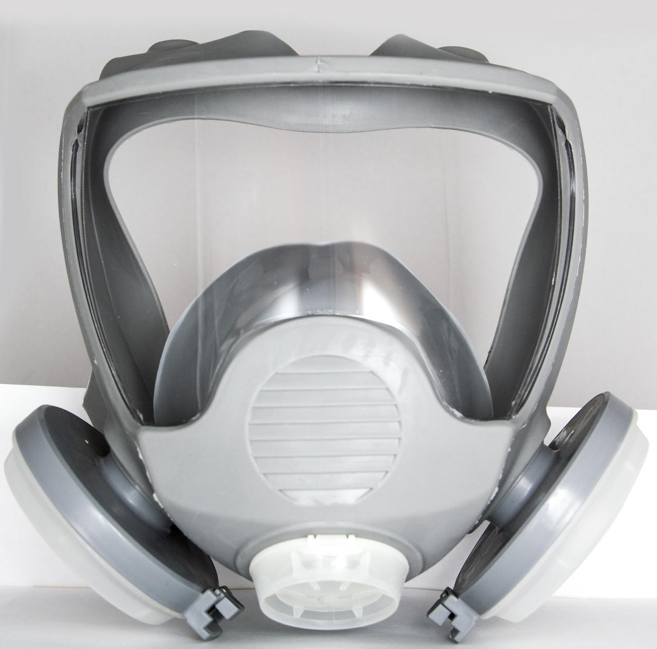 Маска лицевая обзорная с пылевыми фильтрами (диски) в резиновой оправе  DR-0025
