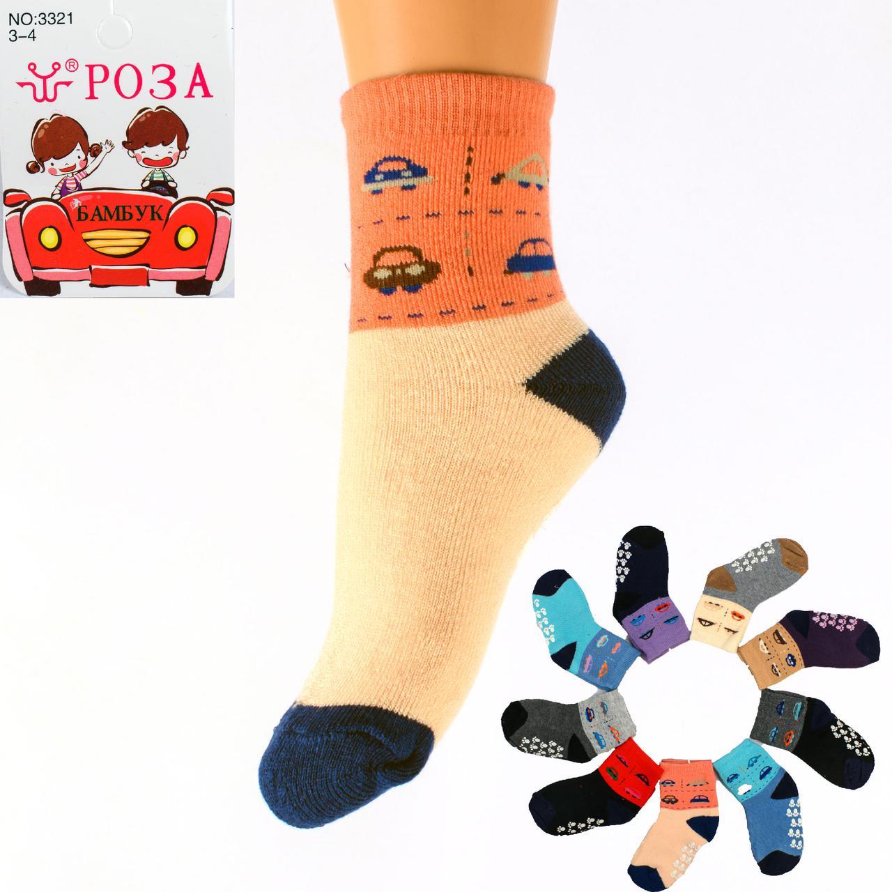 Детские махровые носочки с тормозами Roza 3321 3-4. В упаковке 12 пар