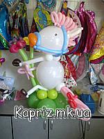 Лошадка из шаров с цветами