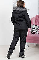 """Теплый женский дутый костюм """"Under Armour"""" с комбинезоном (большие размеры), фото 3"""