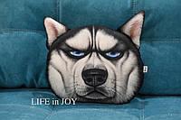 Подушка с 3D принтом собаки хаски