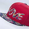 Кепка бейсболка, LOVE, M / 55-56 RU, Хлопок, Красный, Inal, фото 4