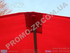 торговая палатка с усиленным каркасом из квадратной профильной трубы 20х20 мм, тент комбинированный, центральный карман на козырьке тента для крепления на каркасе