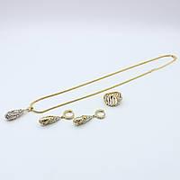 Комплект Подвеска(кулон) на цепочке,кольцо и серьги