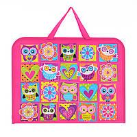 """Папка-портфель на молнии с тканевыми ручками А3 """"Owl"""""""
