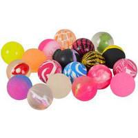 Мяч попрыгунчик разноцветный 35  мм 100 шт.