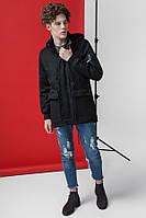 Куртка мужская весна - осень стильная черная размеры 48, 50, 52, 54
